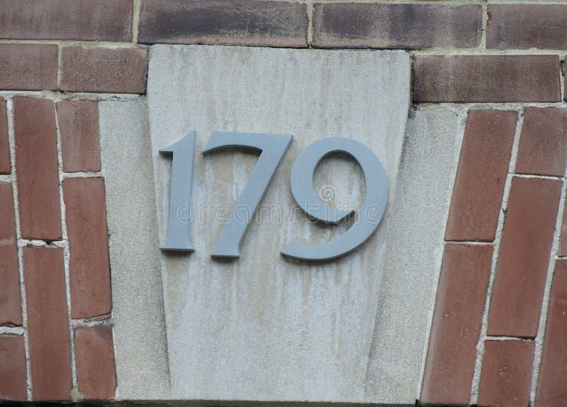 Número da casa ornamentado imagens de stock royalty free