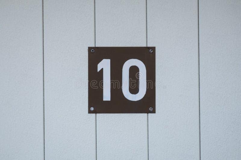 Número da casa 10 fotografia de stock royalty free
