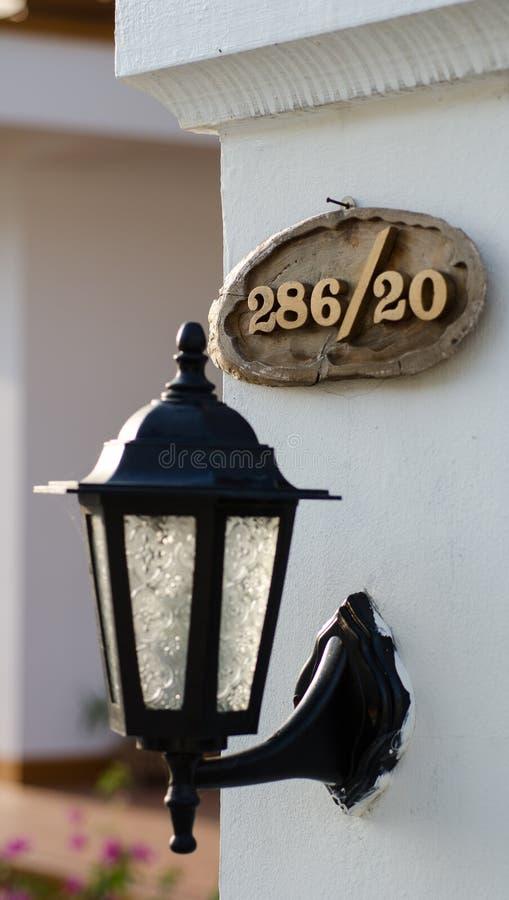 Número de casa fotografía de archivo libre de regalías