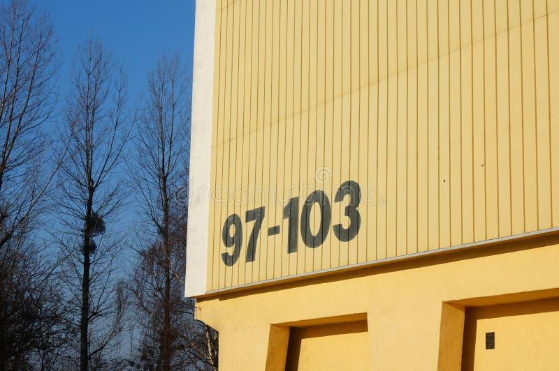 Número de construção fotos de stock