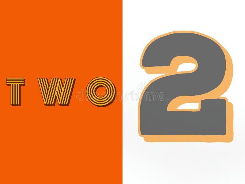Número de dos dígitos en el fondo multi stock de ilustración