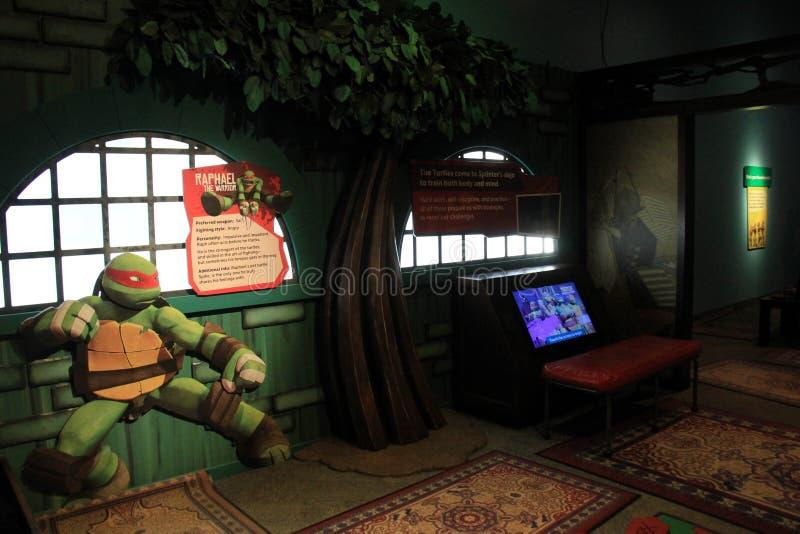 Número de exibições sob a iluminação macia, este de Ninja Turtles, museu forte, Rochester NY, 2017 fotos de stock