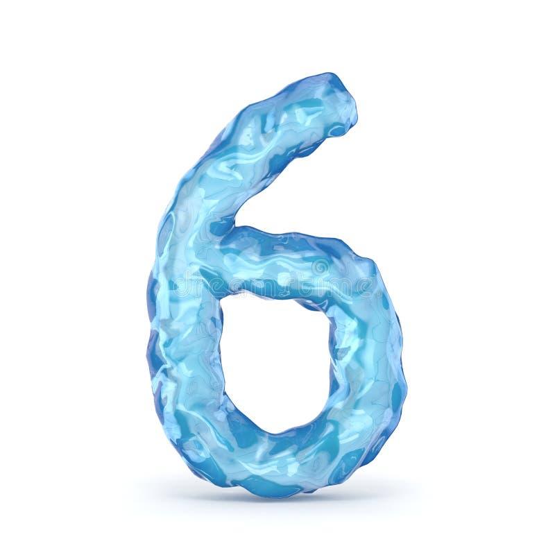 Número de fuente del hielo 6 SEIS 3D libre illustration