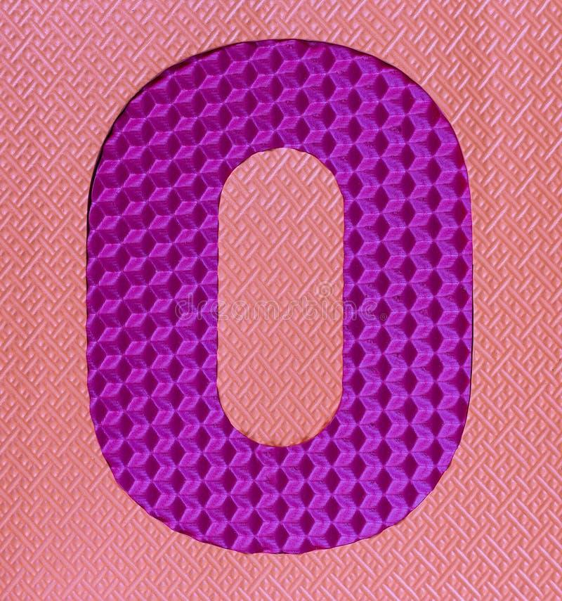Número de goma multicolor del dígito cero fotografía de archivo