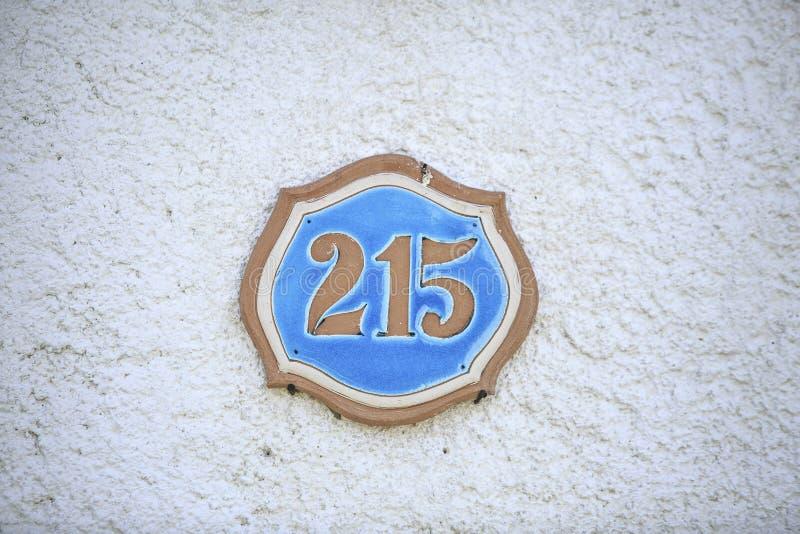 Número de uma casa da rua imagem de stock