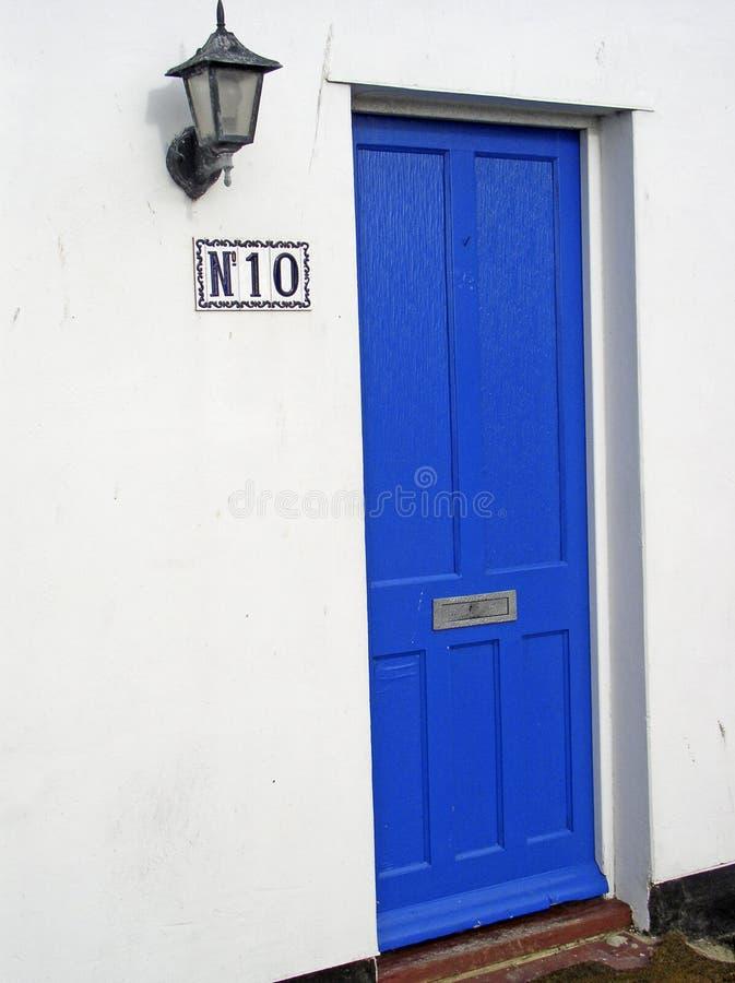 Download Número dez imagem de stock. Imagem de frontage, azul, casa - 63167