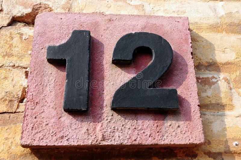 Número doce fotografía de archivo libre de regalías