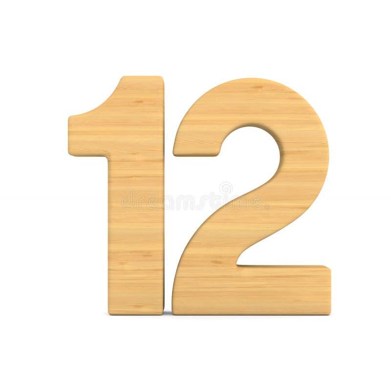 Número doce en el fondo blanco Ejemplo aislado 3d libre illustration
