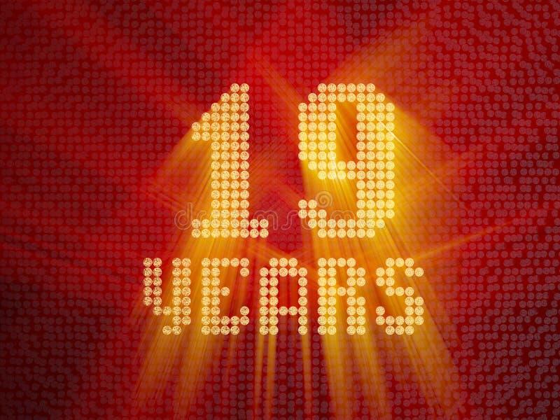 Número dourado dezenove anos 3d rendem ilustração royalty free
