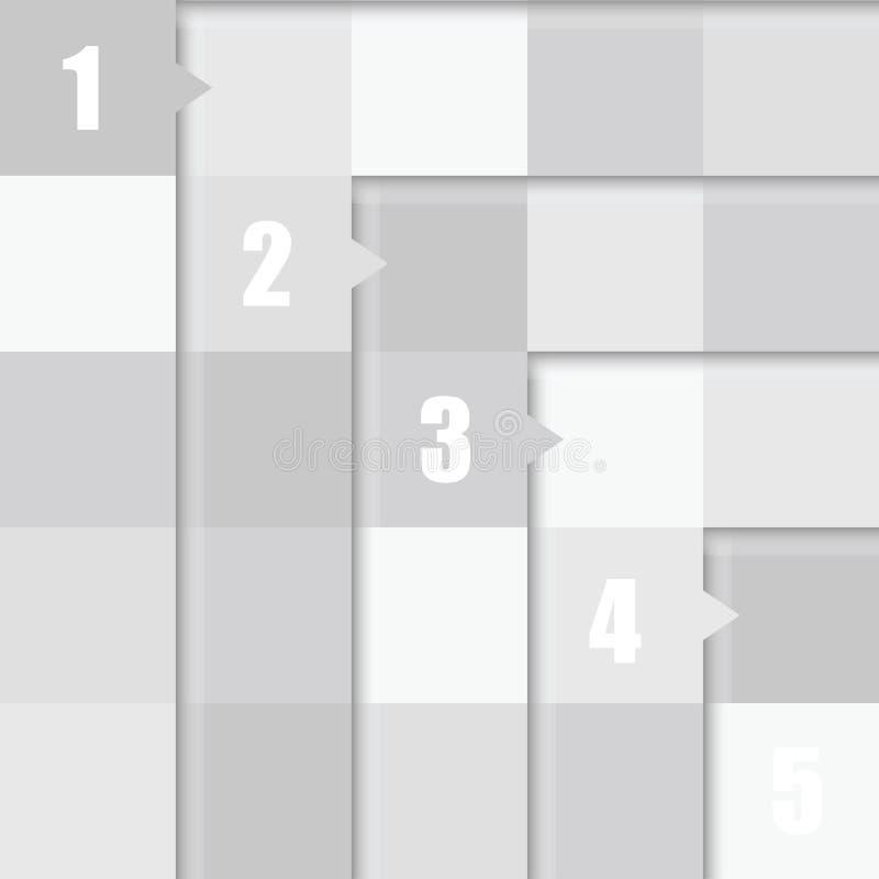 Número no cubo na ilustração de cor cinzenta ilustração stock