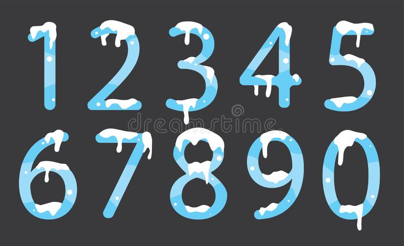 Número 1 a 10 a P para el diseño de letra ilustración del vector