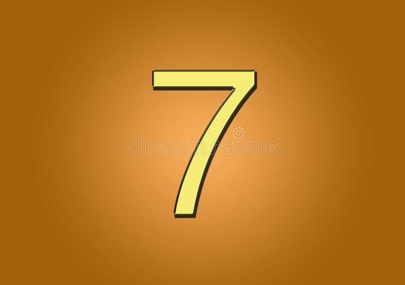 Número 7 para la creación de contenido libre illustration