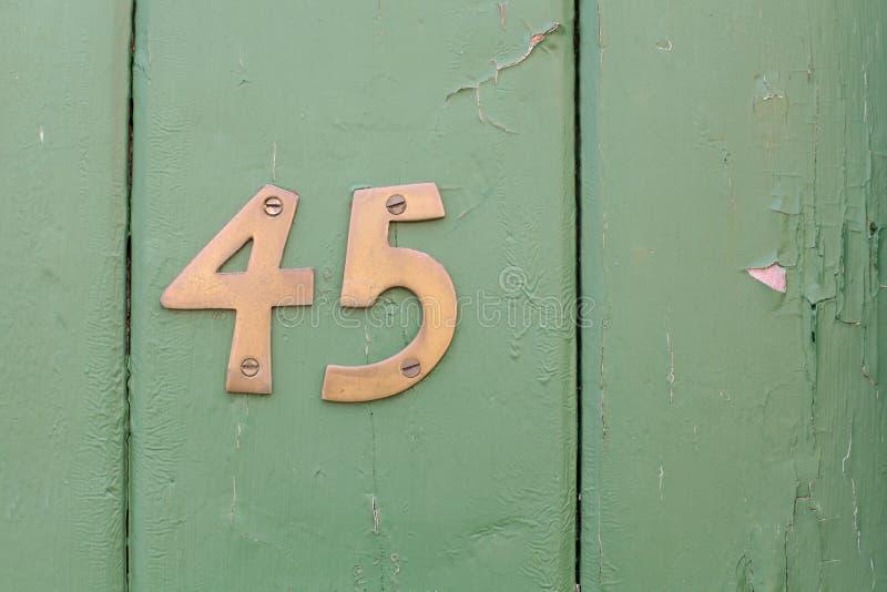Número quarenta e cinco imagens de stock royalty free