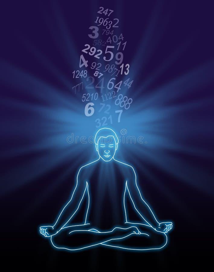 Número que flui a meditação ilustração royalty free