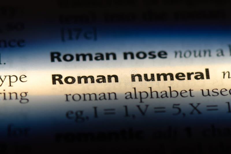 número romano imagen de archivo libre de regalías