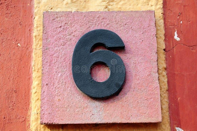 Número seises fotografía de archivo