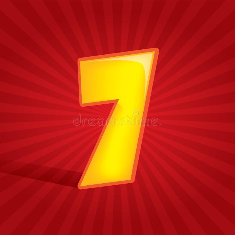 Número siete stock de ilustración