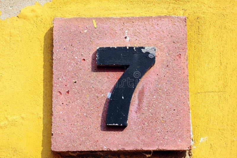 Número siete imagen de archivo