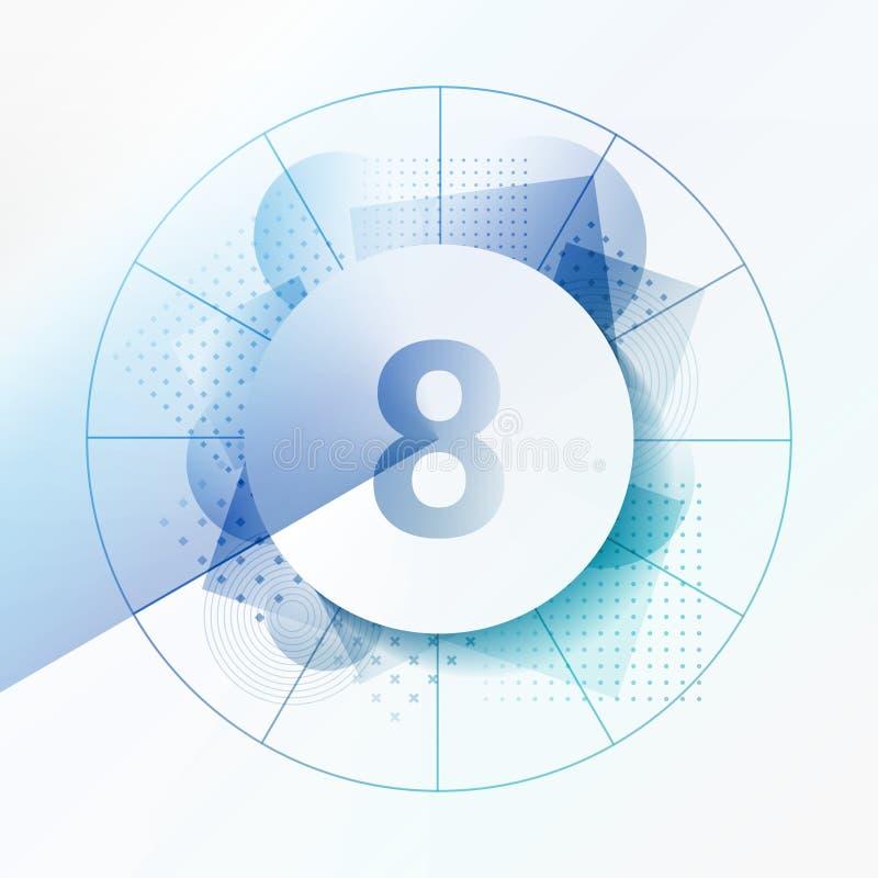 Número-tiempo-vector-abstracto-fondo-círculo-diseño-papel-tiempo libre illustration