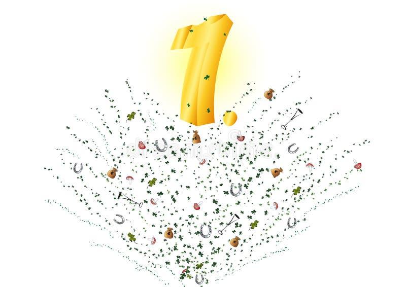 Número um ilustração stock