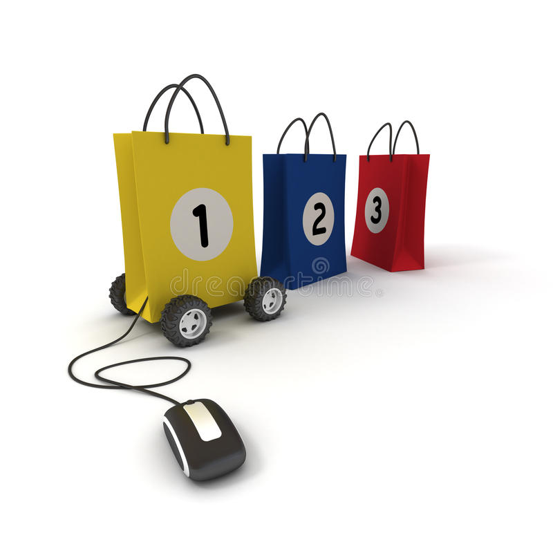 Download Número Um Na Compra Em Linha Ilustração Stock - Ilustração de melhor, negócio: 10068126