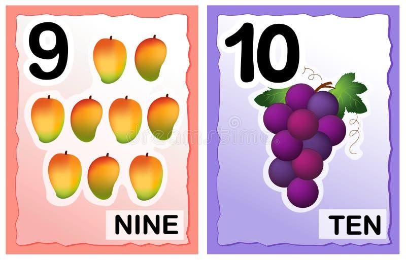 Números ilustração stock