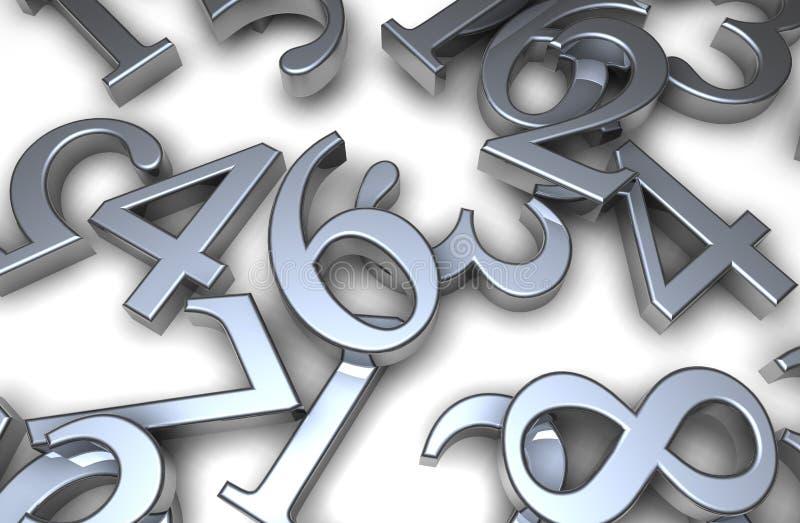 números 3d ilustración del vector