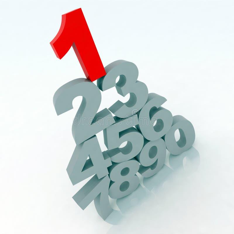 números 3d ilustração do vetor