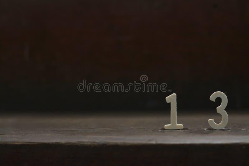 13 números afortunados foto de archivo