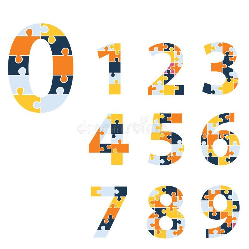 Números ajustados Ilustração do vetor ilustração stock