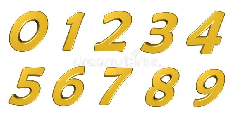 Números amarillos libre illustration