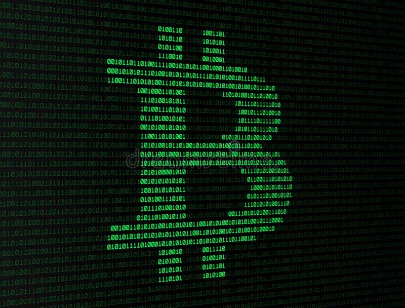 Números binários de Bitcoin ilustração royalty free