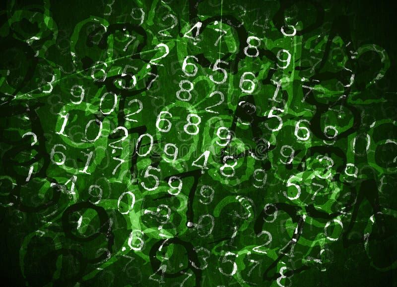 Números codificados fotografia de stock