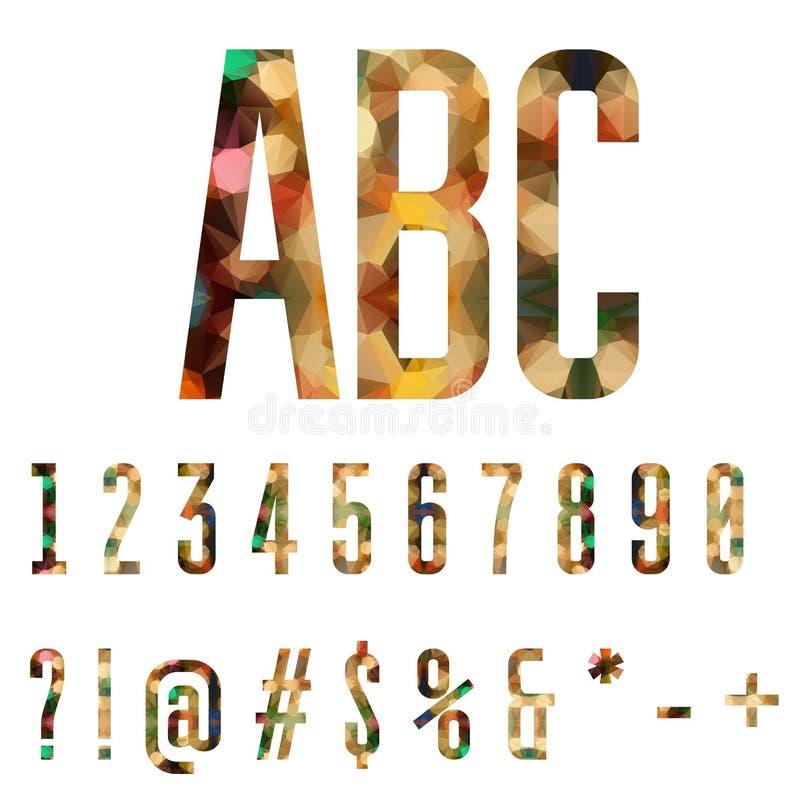 Números coloridos y símbolos hechos de formas geométricas abstractas libre illustration