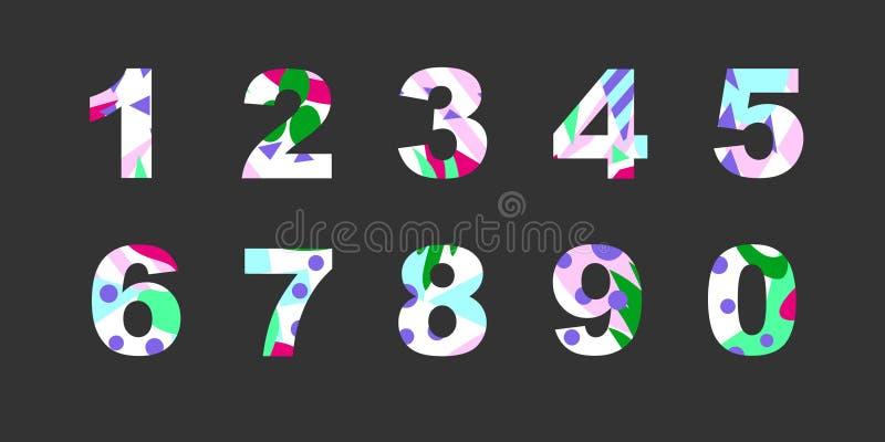 Números con el terraplén abstracto libre illustration