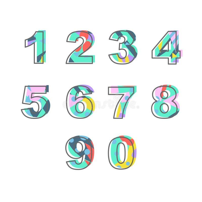 Números con el terraplén abstracto ilustración del vector