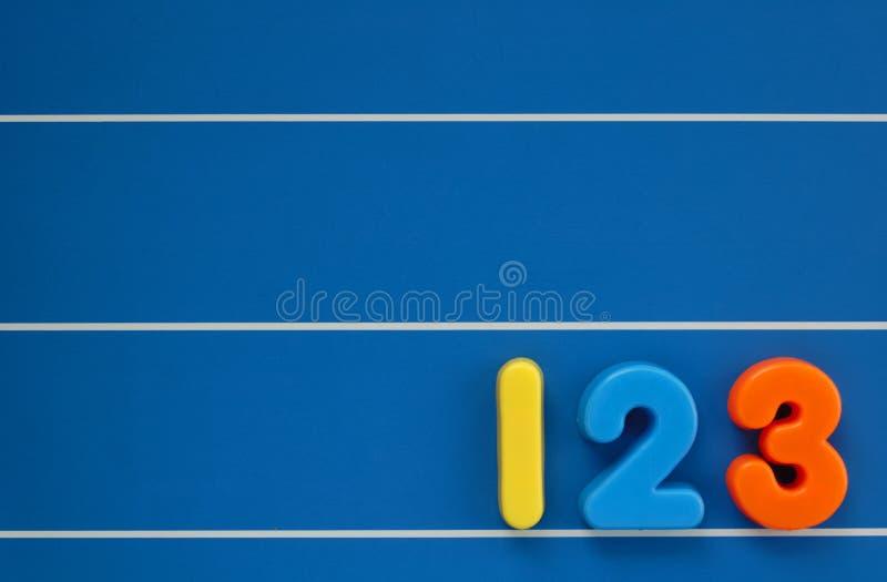 Números da criança ilustração do vetor
