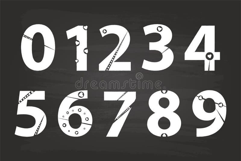 Números da escrita ilustração stock