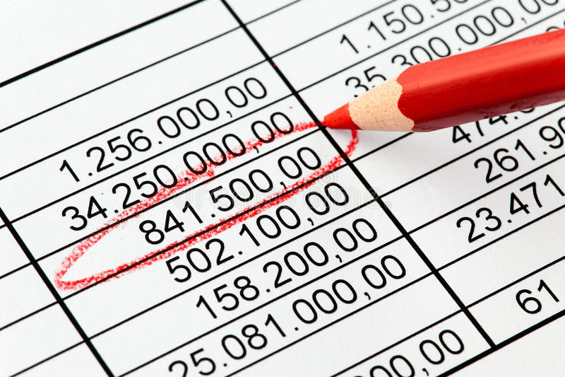 Números da estatística imagens de stock royalty free