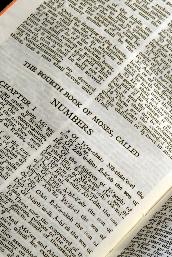 Números da série da Bíblia fotos de stock