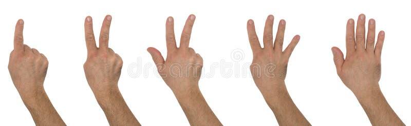 Números das mãos imagem de stock