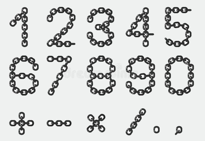 Números de cadena stock de ilustración