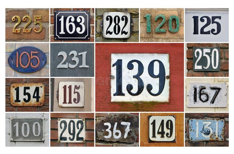 Números de casa 100+ fotografía de archivo libre de regalías