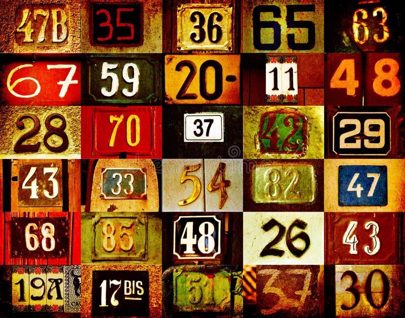 Números de casa stock de ilustración