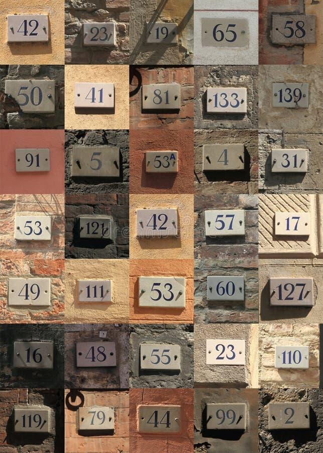 Números de casa fotos de archivo