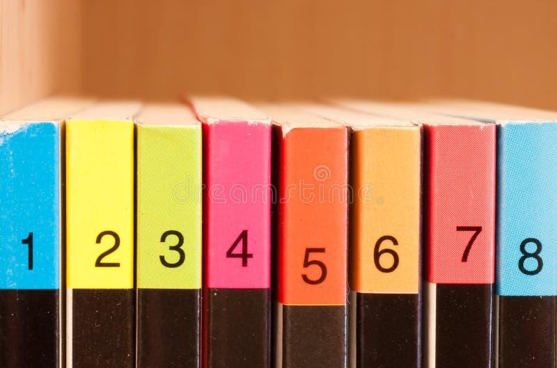 Números de Colered foto de archivo