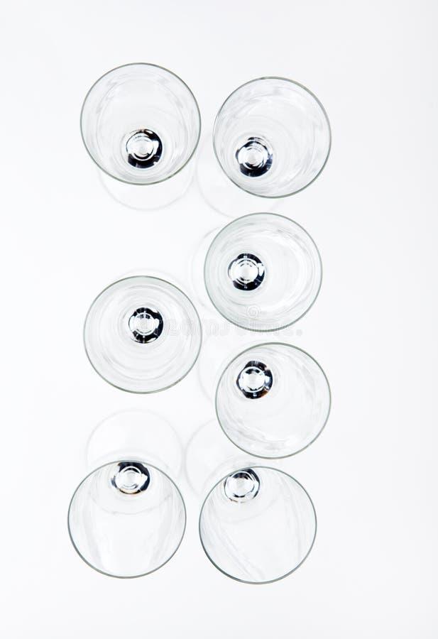 Números de cristal del champán vacío fotos de archivo