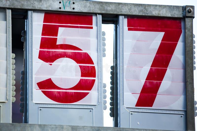 Números de dos dígitos fotos de archivo