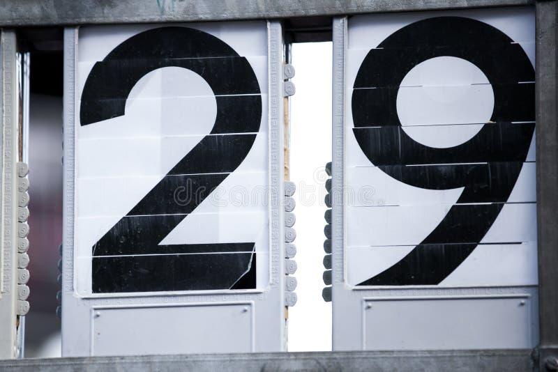 Números de dos dígitos foto de archivo libre de regalías