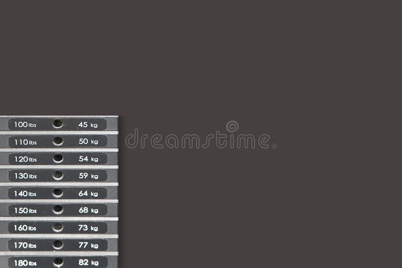 Números de equipamento do peso da aptidão imagens de stock
